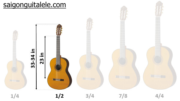 """guitar size 1/2 34"""" inch"""