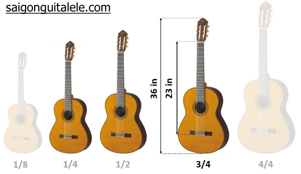 """guitar size 3/4 36"""" inch"""