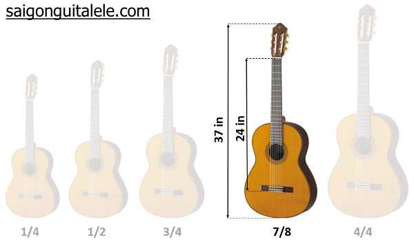 """guitar size 7/8 37"""" inch"""